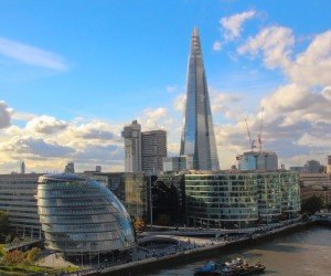 A view of The Shard on 11 November 2012