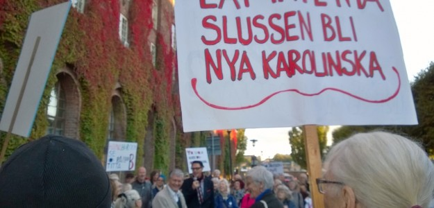 Slussen demonstration 2